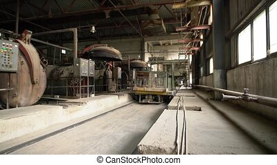 Brick production. View of drying shop floor - Brick...