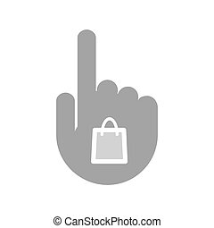 Isolated hand with a shopping bag