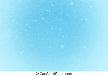 Falling snow background - Winter falling snow on blue...