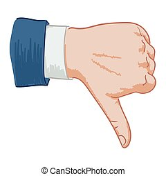 hand sign dislike - Hand sign thumbs down hand-drawn on a...
