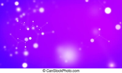 Background, the movement of atoms - Bright background made...