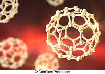 Nanoparticles on colorful background