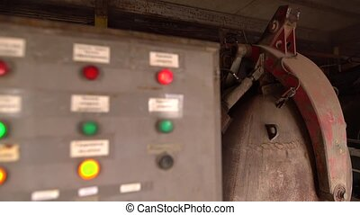 Brickyard. View of dryer's control panel, close-up