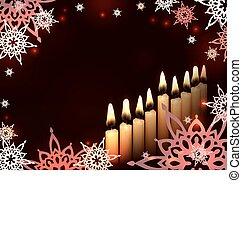 hanukkah candles star