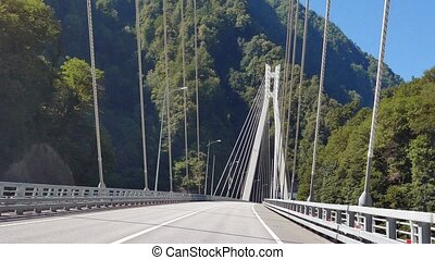 Cable-stayed bridge on the road Adler - Alpika-service...