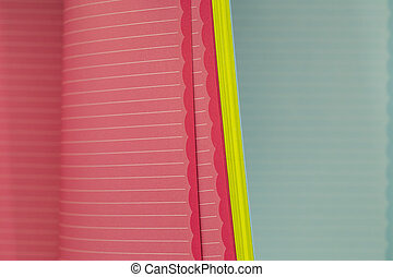 color memo pad with spring paper horizontal stripes - color...