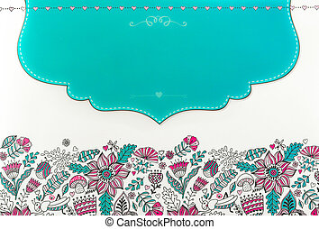 color image, seamless pattern, illustration - abstract,...