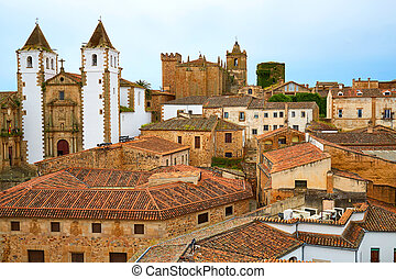 Caceres San Francisco Javier church in Spain