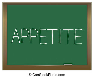 Appetite word concept. - Illustration depicting a green...