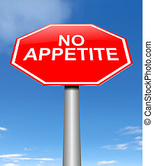 No appetite concept. - Illustration depicting a sign with a...