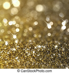 Gold glitter background - Christmas background with gold...