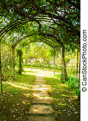 Arch green soft natural pathway - Arch green soft natural...
