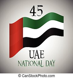 Decorative background for UAE National Day celebration -...