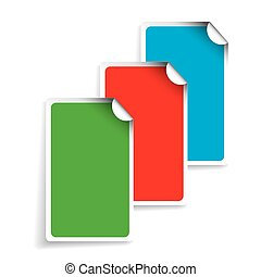 Vector blank rectangle labels