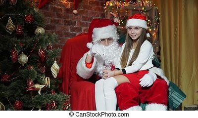 Santa Claus conjured a magic toy for girls - Santa Claus...