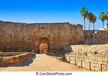 Merida Alcazaba in Spain Badajoz Extremadura by via de la...