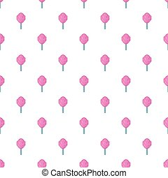 Cotton candy pattern, cartoon style - Cotton candy pattern....