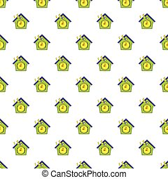 Cuckoo clock pattern, cartoon style - Cuckoo clock pattern....