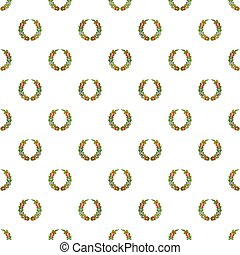 Funeral wreath pattern, cartoon style - Funeral wreath...