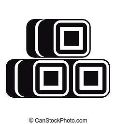 Hay bundles icon, simple style - Hay bundles icon. Simple...