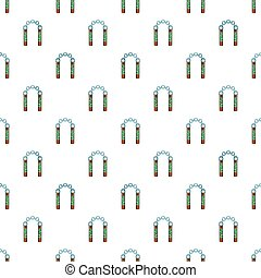 Combat nunchaku pattern, cartoon style