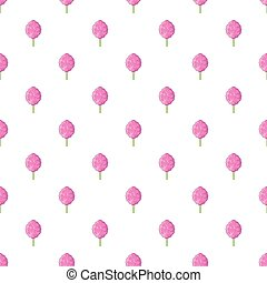 Cotton candy pattern, cartoon style