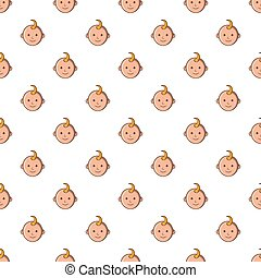 Baby face pattern, cartoon style - Baby face pattern....