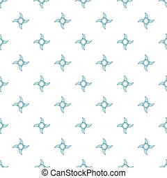 Ninja shuriken pattern, cartoon style