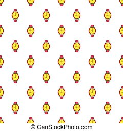 Wrist watch pattern, cartoon style - Wrist watch pattern....