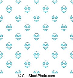 Blue swimsuit pattern, cartoon style - Blue swimsuit...