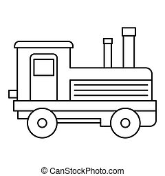 Locomotive icon, outline style