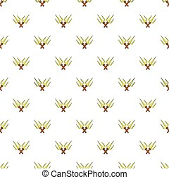 Crossed tridents pattern, cartoon style