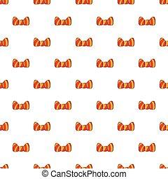 Butterfly tie pattern, cartoon style