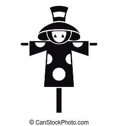 Scarecrow icon, simple style