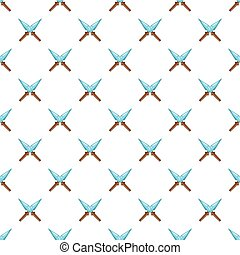 Crossed spikes pattern, cartoon style