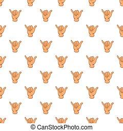 Gesture shaka pattern, cartoon style