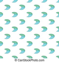 Water wave pattern, cartoon style