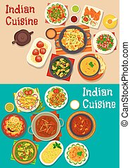 Indian cuisine traditional dinner icon - Indian cuisine...