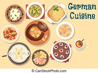 German cuisine festive christmas dinner icon