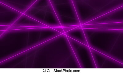 Hi-tech motion background. Abstract purple glowing lines crossings. 4K seamless loop animation