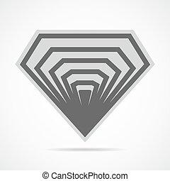 Diamond icon. Vector illustration. - Abstract diamond icon...