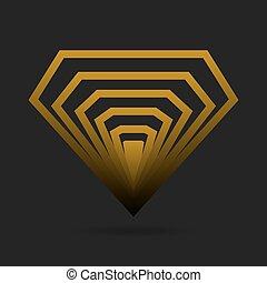 Diamond icon. Vector illustration. - Abstract diamond icon....