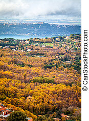 Rocca Di Papa Italy - View of Albano Lake and astronomic...
