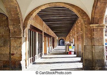 Salamanca Plaza Mayor in Spain along via de la Plata way to...