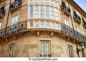 Salamanca Rua Mayor in Spain along via de la Plata way to...