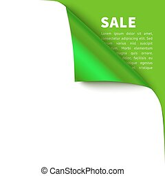 Curled corner vector illustration, isolated paper curl wit...