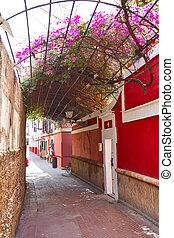 Agua, Sevilha, rua,  callejon,  Andalusia, Espanha