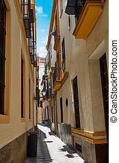 Sevilla old town near calle Agua Vida st Spain - Sevilla old...