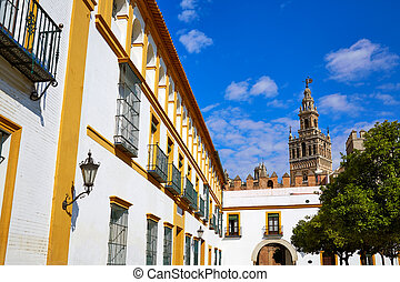 Seville Giralda tower of Sevilla Andalusia Spain - Seville...