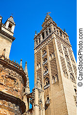 Seville cathedral Giralda tower Sevilla Spain - Seville...